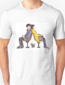Boy, Girl, and Cat Unisex T-Shirt