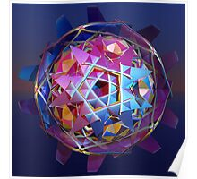 Colorful metallic orb Poster