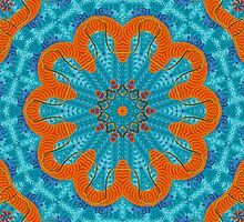 Orange mandala by Shelleymay