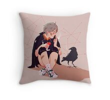 A little chat with myself Throw Pillow