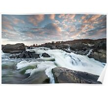 The Potomac River at Great Falls Poster