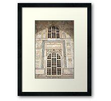 Taj Mahal Facade - Agra - India Framed Print
