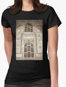 Taj Mahal Facade - Agra - India Womens Fitted T-Shirt