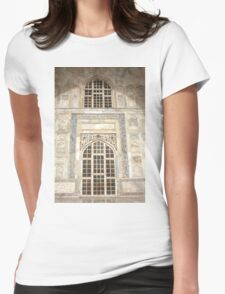 Taj Mahal Facade - Agra - India Womens Fitted T-Shirt