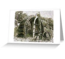 Industrial Revolution - Burden Iron Works Water Wheel Greeting Card