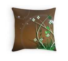 bubble world Throw Pillow