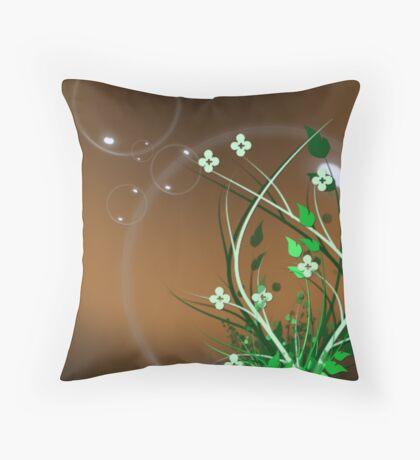 bubble world Throw Pillow