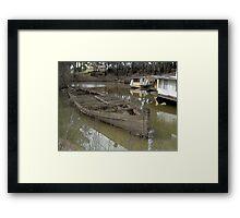 Shipwreck, Echuca, Australia 2011 Framed Print