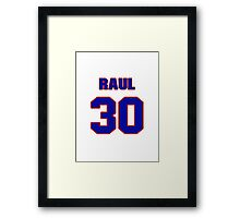 National baseball player Raul Casanova jersey 30 Framed Print