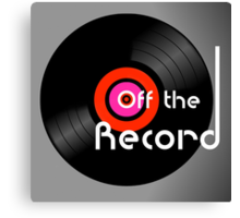 Off The Record Canvas Print