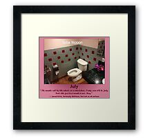 Toilets of New York 2015 July - Soba Nippon Framed Print