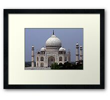 Taj Mahal - Agra - India  Framed Print