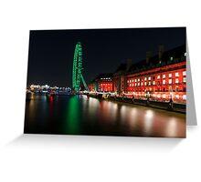 The South Bank, London at Night Greeting Card