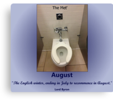 Toilets of New York 2015 August - The Met' Canvas Print