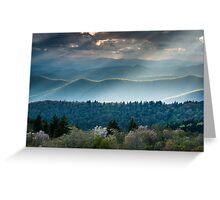 Southern Appalachian Mountain Scenic Landscape Greeting Card