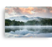 North Carolina Grandfather Mountain Reflects in Price Lake Canvas Print