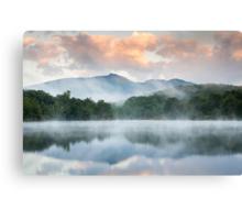 North Carolina Grandfather Mountain Reflects in Price Lake Canvas Print
