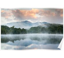 North Carolina Grandfather Mountain Reflects in Price Lake Poster