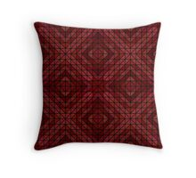 Maroon triangle mosaic Throw Pillow