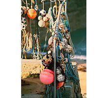 Sennen Fishing Floats Photographic Print