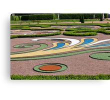 abstract tracery in regular garden Canvas Print