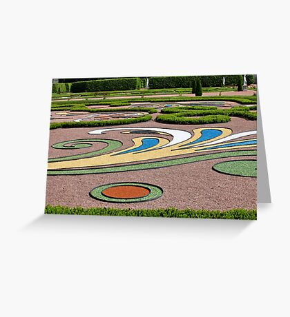abstract tracery in regular garden Greeting Card