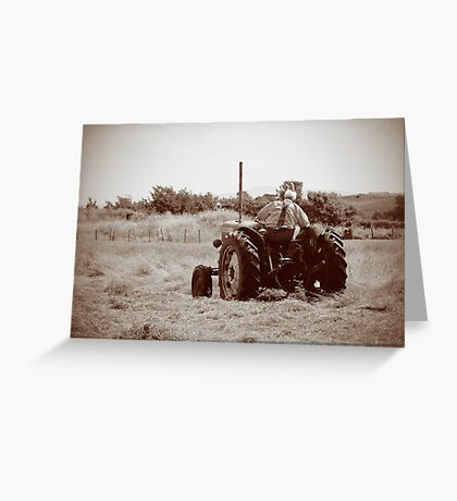 Mid Mount Mowing Greeting Card