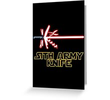Sith Army Knife Greeting Card