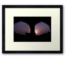 Red Forth Arches - New Delhi - India Framed Print