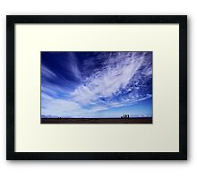 Blue skies and beautiful clouds Framed Print
