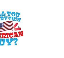 Will you marry this American guy? with silver proposal rings red white and blue by jazzydevil