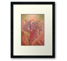 Raptor Cowboy Framed Print