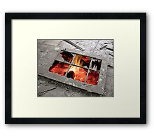 Hell's Only Window Framed Print