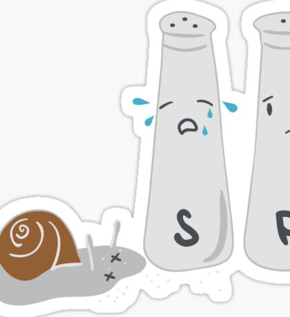 The day Salt met Mr Snail Sticker