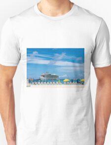 Cruise Ship in St Martin Unisex T-Shirt