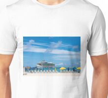 Cruise Ship in St Martin Unisex T-Shirt