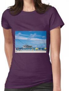 Cruise Ship in St Martin Womens Fitted T-Shirt