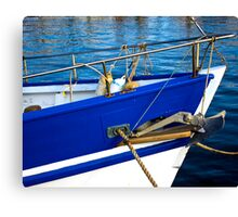 Blue Boat Bow Canvas Print