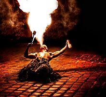 Krampus Fire Breather 2  by focusonphotos