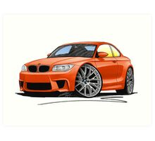 BMW 1M Coupe Orange (NoPlate) Art Print