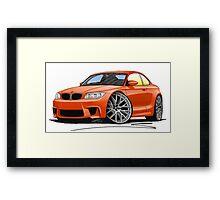 BMW 1M Coupe Orange (NoPlate) Framed Print