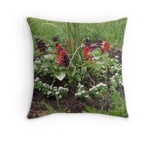NC Flower garden Throw Pillow