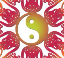 yingyang circle Sticker