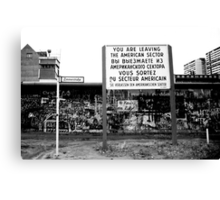 Memories of a divided city. - Zimmerstrasse.  Canvas Print