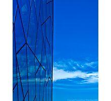 Blue Federation Square Glass Photographic Print