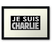 JE SUIS CHARLIE TRANSPARENT Framed Print