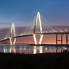 Charleston Arthur Ravenel Cooper River Bridge Sunset Landscape by MarkVanDyke