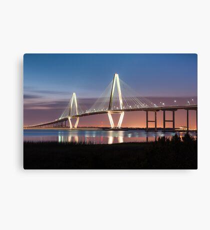Charleston Arthur Ravenel Cooper River Bridge Sunset Landscape Canvas Print