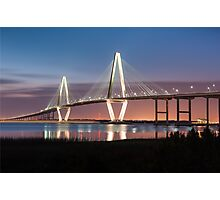 Charleston Arthur Ravenel Cooper River Bridge Sunset Landscape Photographic Print