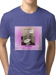 Toilets of New York 2015 February - Empire State Building  Tri-blend T-Shirt